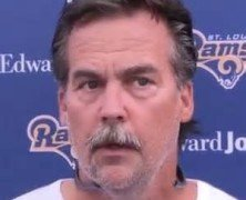 Rams Head Coach Jeff Fisher following Day 1 of Rams Camp